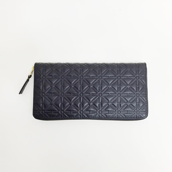 Johan - Comme des Garcons - Black Embossed Star Long Wallet - Portland, Oregon
