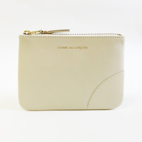 Johan - Comme des Garcons Classic Leather Small Ivory Zip-up Pouch - Portland, Oregon