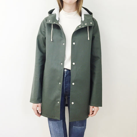 Johan - Stutterheim Stockholm Raincoat Green - Portland, Oregon