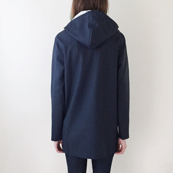 Stutterheim Stockholm Raincoat Navy - Back