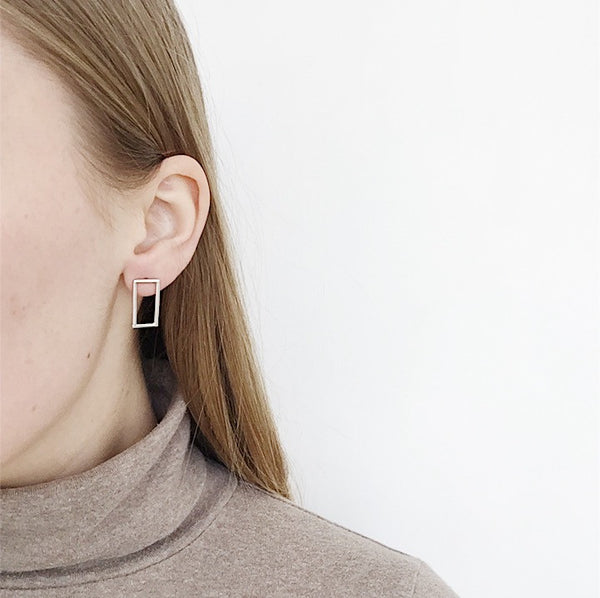 Johan - Karenn.la LeWitt Rectangle Earring - Portland, Oregon