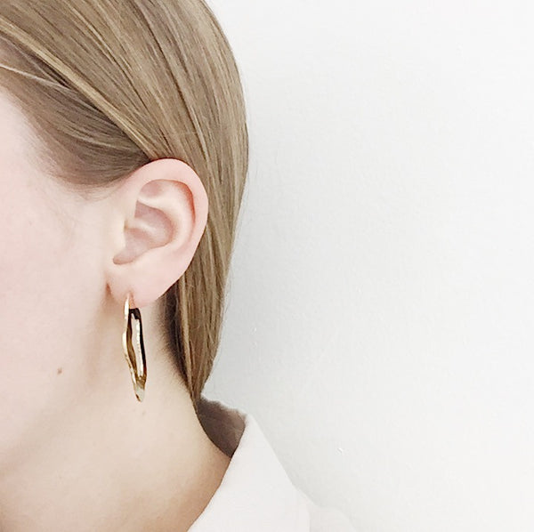 Johan - Lane Walkup Gold Swimming Pool Earrings - Portland, Oregon