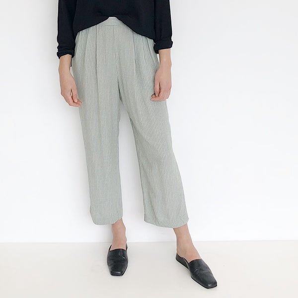 Mint Stripe Easy Pant