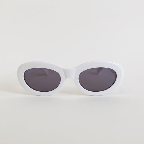 Johan - Sun Buddies Courtney Solid White Unisex Sunglasses - Portland, Oregon