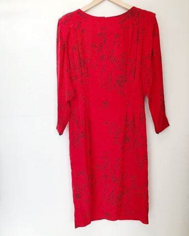 TBK Red Liz Claiborne Dress