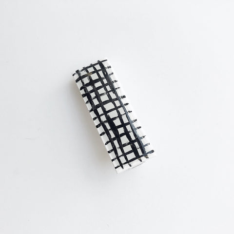 Sea + Pattern Grid Hair Clip