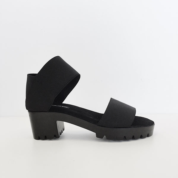 Johan-James Roland Black Dual Strap Sandal-Portland Oregon