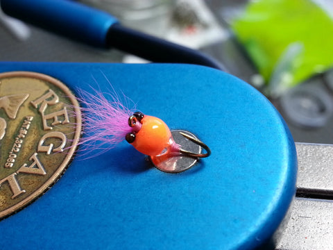 #14 Orange/Pink Tungsten Zoo Bug