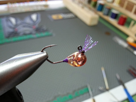 Tungsten Horizontal Zoo Bug Copper/Purple w/Bling