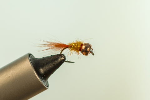 Orange Tungsten Arctic Fox Ice Fly #12
