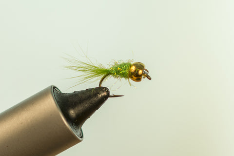 Chartreuse Tungsten Arctic Fox Ice Fly #12