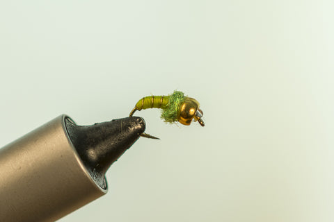 Gold/Chartreuse Tungsten Ice Fly #12 GRSS