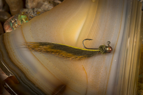 Olive Panfish Leech 1/80oz