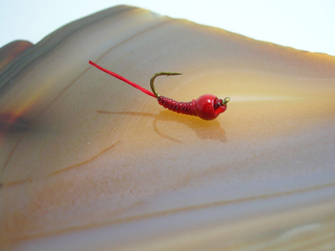 Tungsten Blood Worm #12 Blood Red Head
