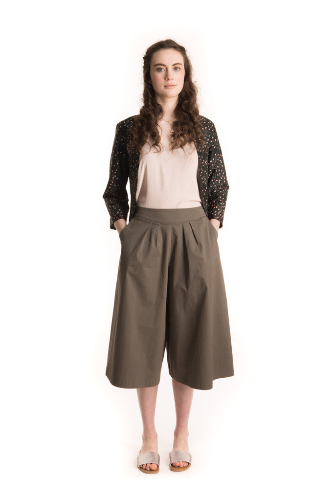 Culottes of Fun - Khaki