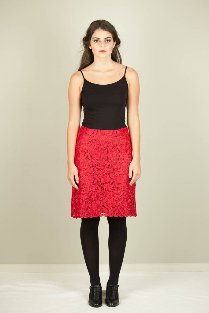 Candle Glow Skirt - Red