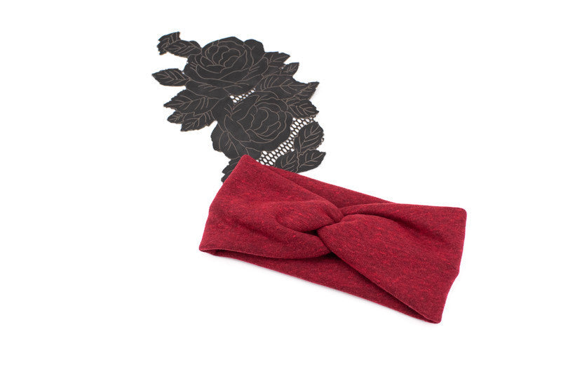 Heather Red Thick Knit Headband