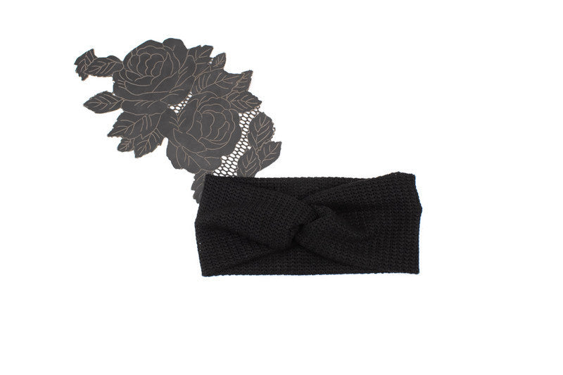 Black Sweater Knit Headband