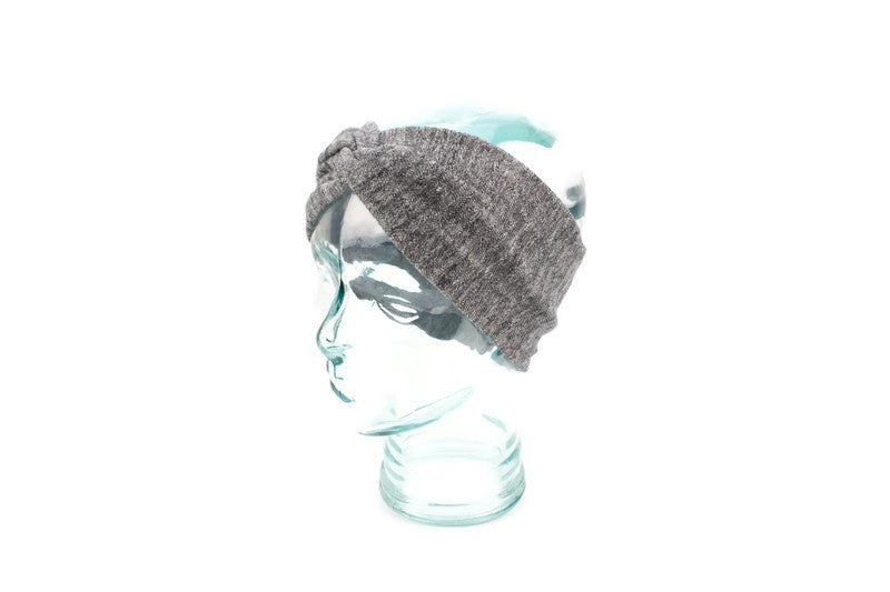 Gray Sweater Knit Headband