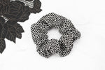 Black and Pale Gray Geometric Triangular Hair Scrunchie