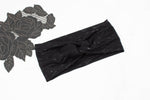 Black Heather Knit Jersey Headband