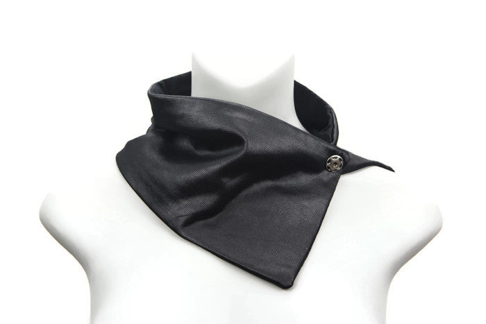 Black Sheen Cowl Scarflette