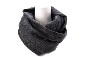 Heather Charcoal Infinity Scarf