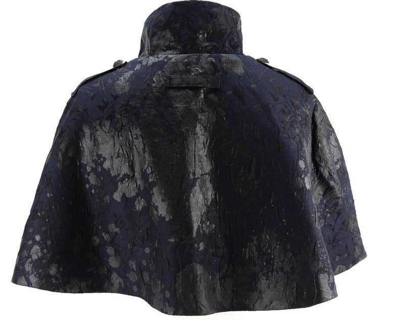 Midnight Splatter Paint Military Cape
