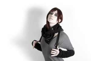 Ruched Scarflette Cowl