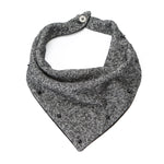 Black and Off-White Peppered Spike Neckerchief