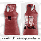 No Excuses - Tank (Red Triblend Racer)