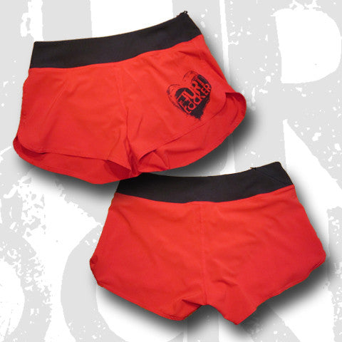 Ladies WOD Shorts - All Heart RED