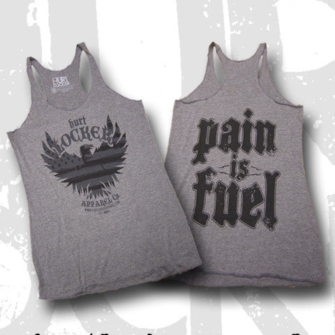 Pain is Fuel - Grey Triblend Tank