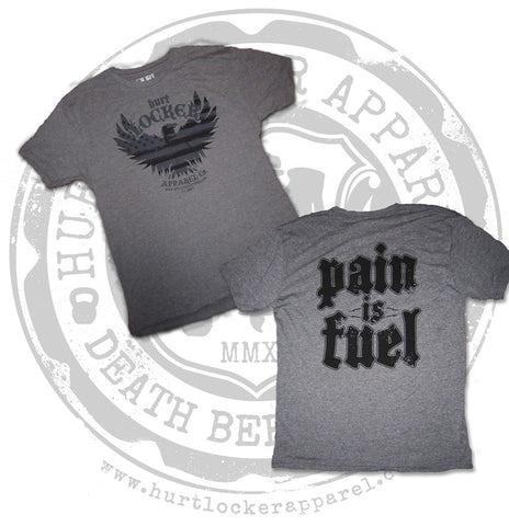 Pain is Fuel! - Men's Grey Crew
