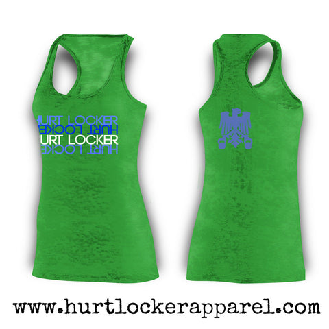 Hurt Locker Upside Down- Green Tank