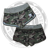 Ladies WOD Shorts - Jungle Camo