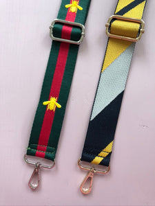 Yellow and Navy Bag Straps