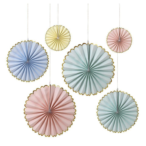 Pastel Pinwheel Decorations