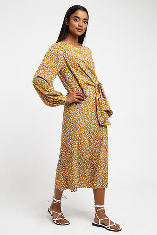 Mustard Ninon Creeper Dress