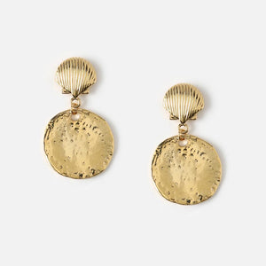 Shell Disc Drop Earrings