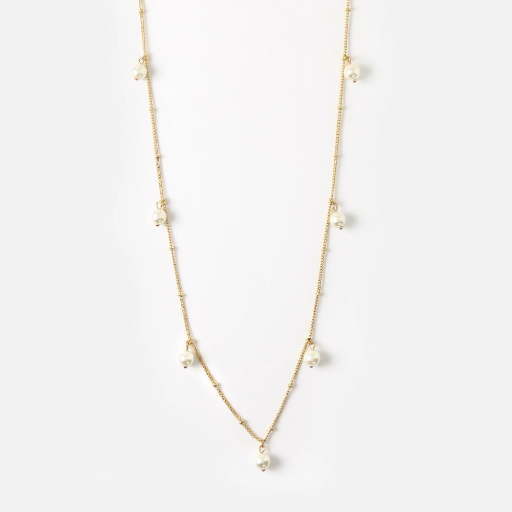 Pearl Drop Long Necklace
