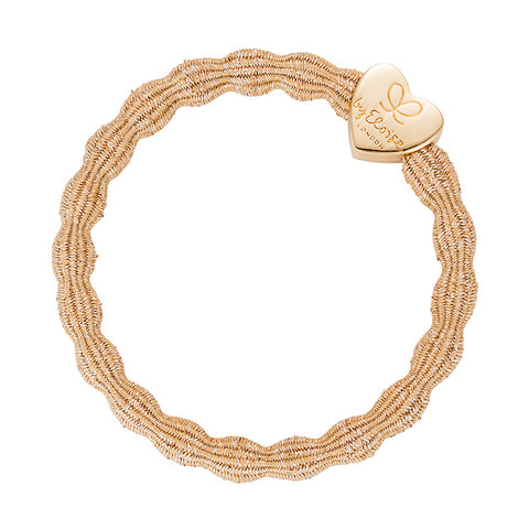 Bangle Band - Metallic Gold, Gold Heart