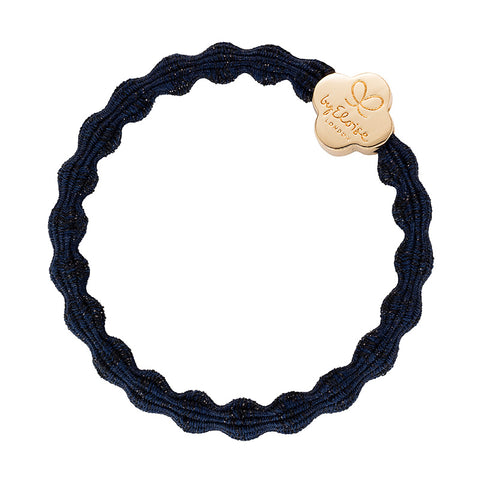 Bangle Band - Metallic Navy, Gold Quatrefoil