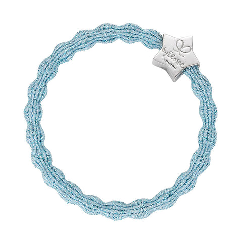 Bangle Band - Metallic Light Blue, Silver Star