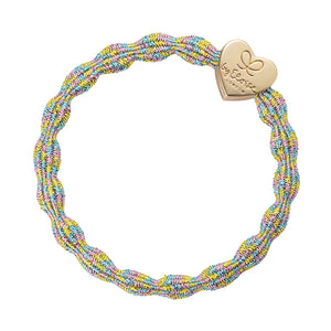 Bangle Band - Metallic Candy, Gold Heart