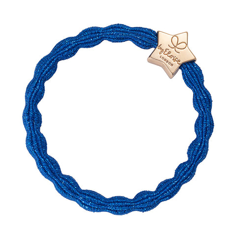 Bangle Band - Metallic Blue, Gold Star