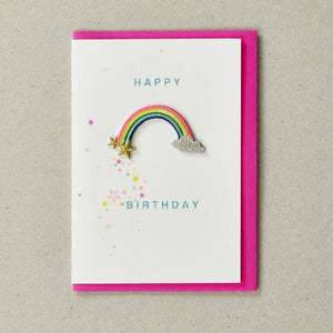 Happy Birthday Rainbow Iron-on Patch Card