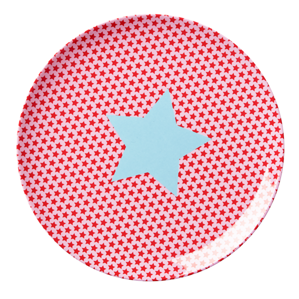 Kids Melamine Lunch Plate with Girls Star Print