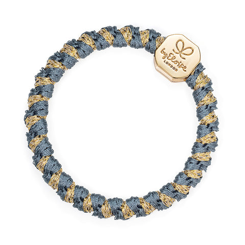Woven Bangle Band - Azure, Gold Nugget