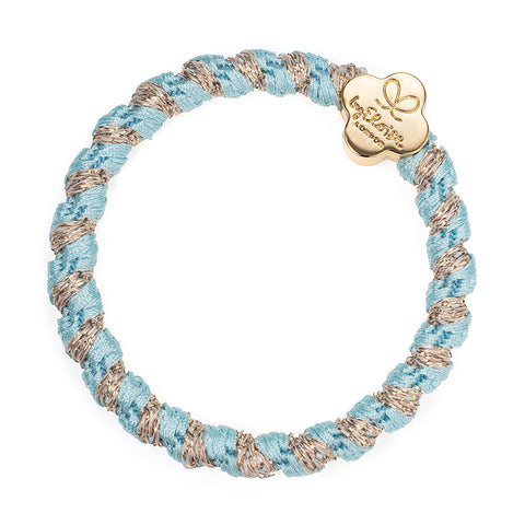 Woven Bangle Band - Peppermint, Gold Quatrefoil
